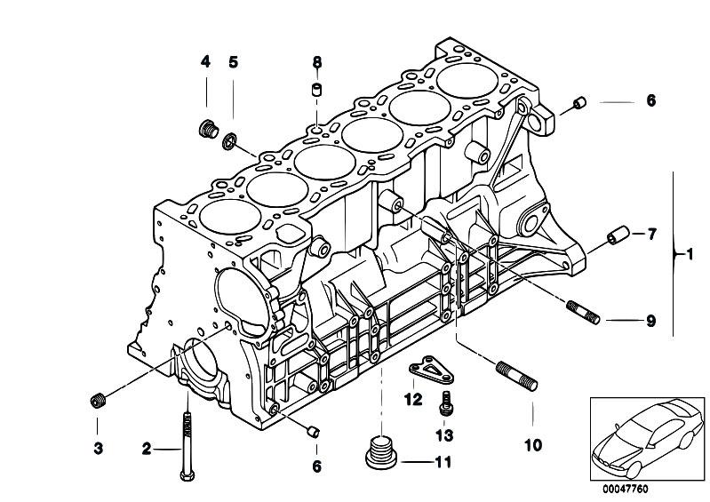 Original Parts for E46 320i M52 Sedan / Engine/ Engine