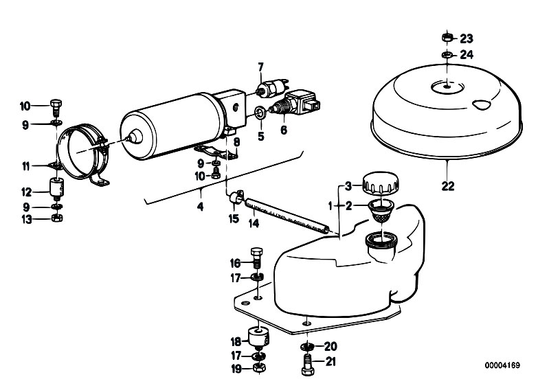Original Parts for E32 735i M30 Sedan / Rear Axle
