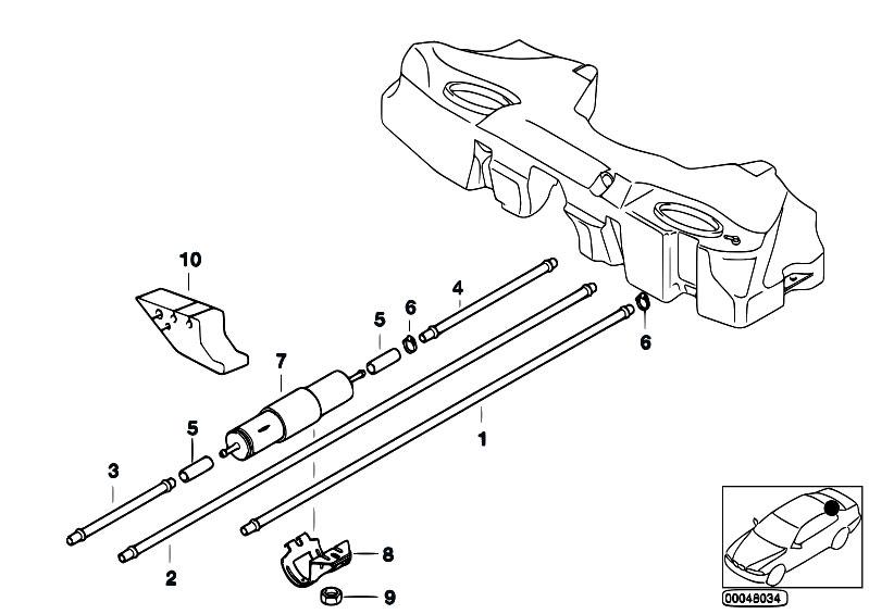 Original Parts for E36 318ti M42 Compact / Fuel Supply