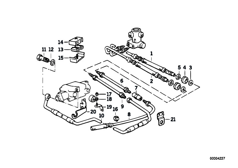 Original Parts for E34 M5 S38 Touring / Rear Axle
