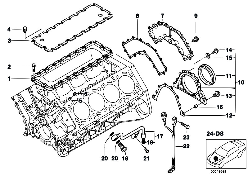 Original Parts for E53 X5 4.6is M62 SAV / Engine/ Engine
