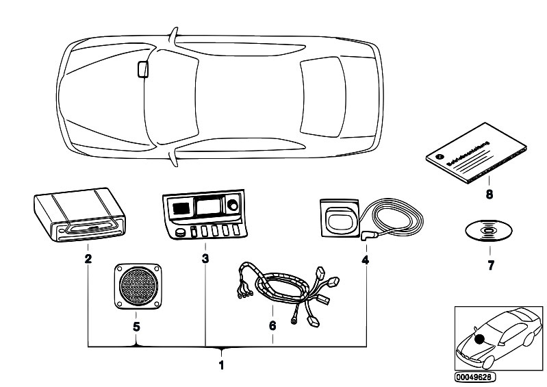 Original Parts for E36 M3 3.2 S50 Sedan / Audio Navigation