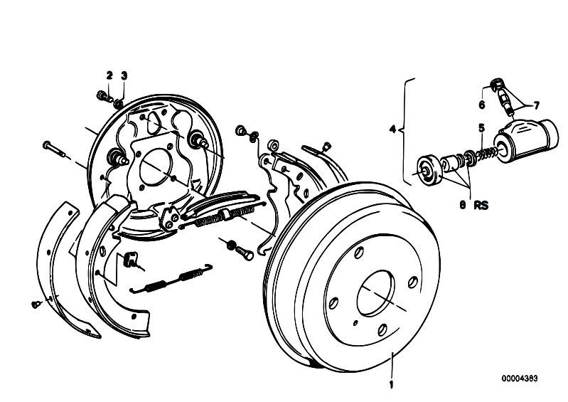 Original Parts for E21 318i M10 Sedan / Brakes/ Drum Brake