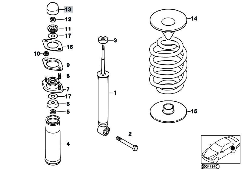 Original Parts for Z3 Z3 3.0i M54 Roadster / Rear Axle