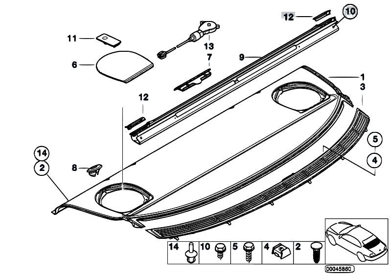 Original Parts for E46 323i M52 Sedan / Vehicle Trim/ Rear