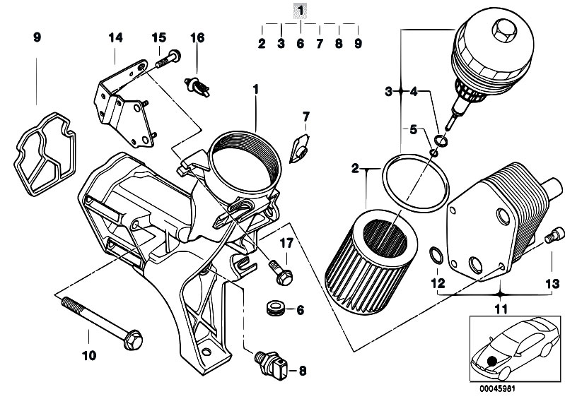 Original Parts for E46 320d M47 Touring / Engine/ Lubricat
