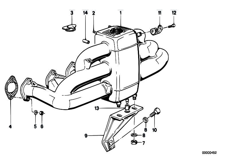 Original Parts for E32 730i M30 Sedan / Engine/ Intake