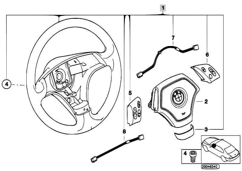 Original Parts for E46 316i 1.9 M43 Sedan / Steering