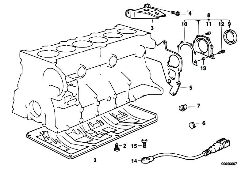 Original Parts for E36 320i M50 Sedan / Engine/ Engine