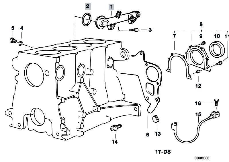 Original Parts for E36 316i M40 Sedan / Engine/ Engine
