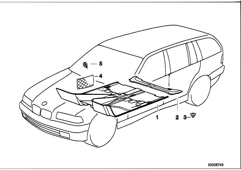 Original Parts for E36 323i M52 Touring / Vehicle Trim