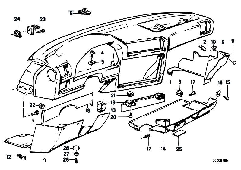 Original Parts for E30 318i M40 4 doors / Vehicle Trim