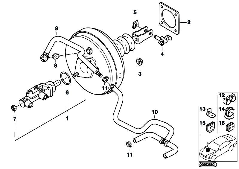 Original Parts for E39 M5 S62 Sedan / Brakes/ Power Brake