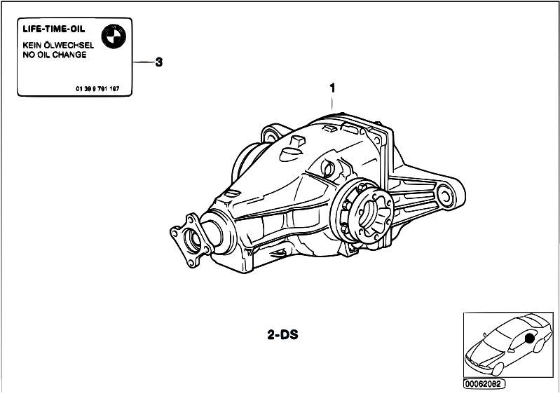 Original Parts for E36 318i M40 Sedan / Rear Axle/ Rear