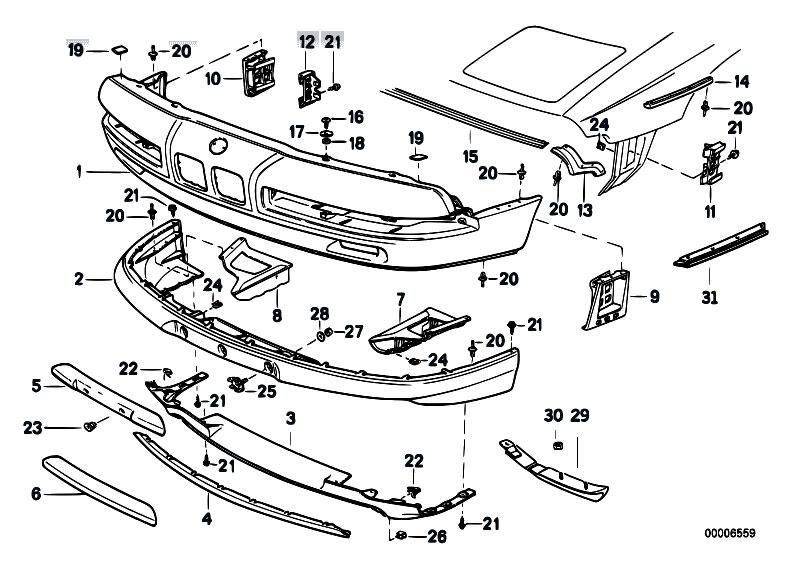 Original Parts for E31 840Ci M62 Coupe / Vehicle Trim