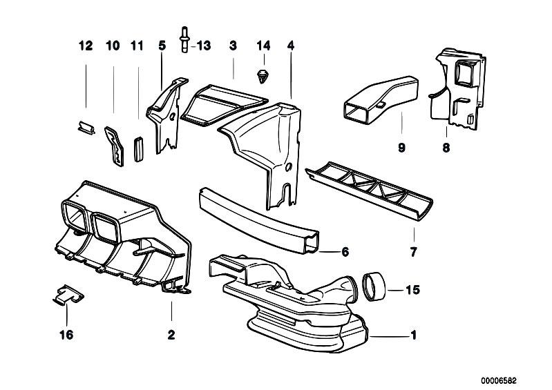 Original Parts for E31 850Ci M70 Coupe / Vehicle Trim/ Air