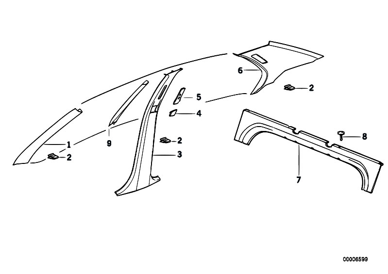 Original Parts for E36 318i M40 Sedan / Vehicle Trim/ Trim