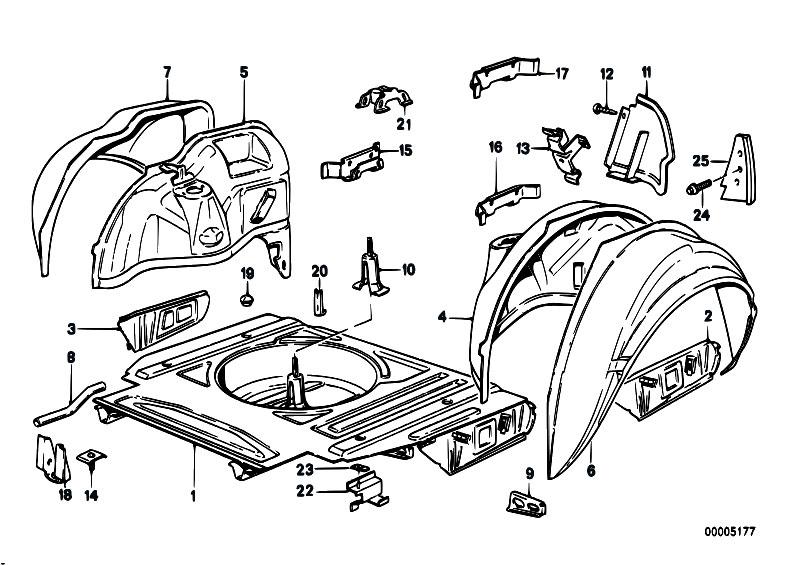 Original Parts for E30 M3 S14 2 doors / Bodywork/ Floor