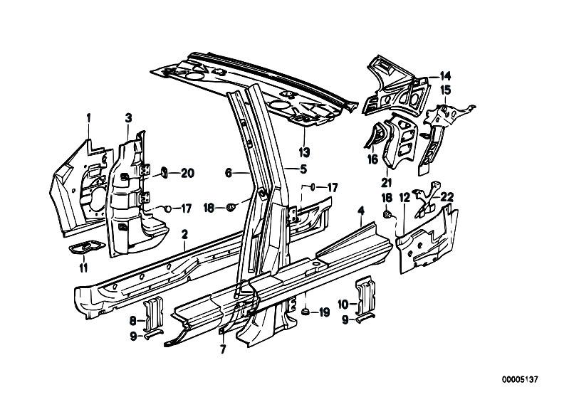 Original Parts for E30 M3 S14 2 doors / Bodywork/ Single