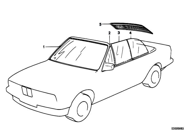 Original Parts for E30 318i M40 Cabrio / Vehicle Trim