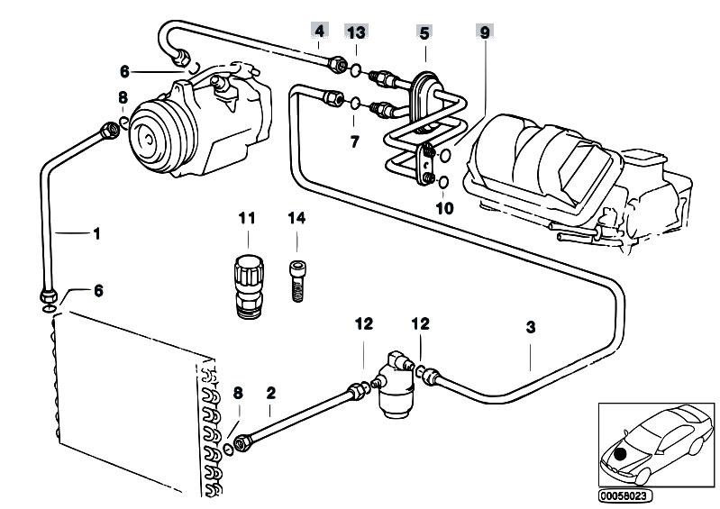 Original Parts for E36 318i M43 Cabrio / Heater And Air