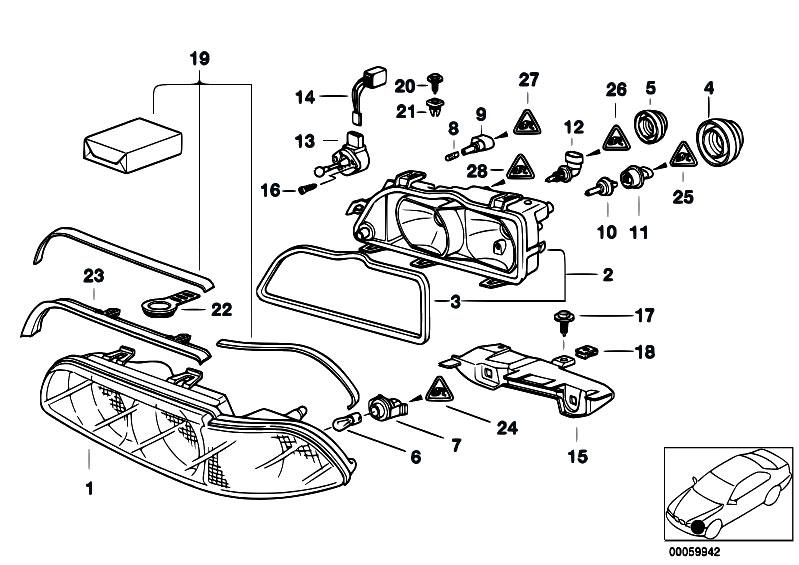 Original Parts for E39 520d M47 Sedan / Lighting