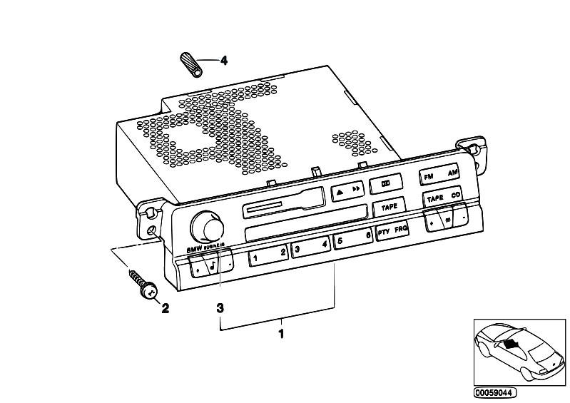 Original Parts for E46 330Ci M54 Cabrio / Audio Navigation