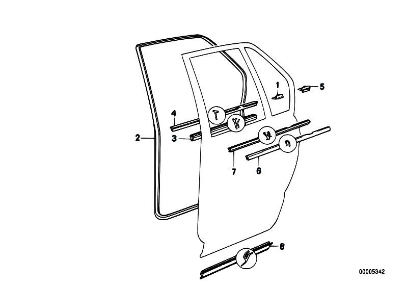 Original Parts for E34 520i M20 Sedan / Bodywork/ Door