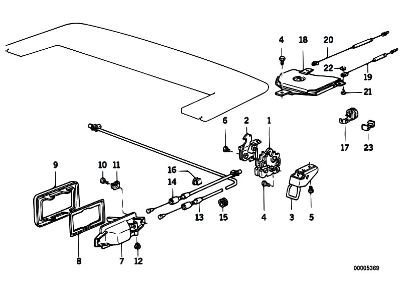 Original Parts for E30 320i M20 Cabrio / Bodywork/ Folding