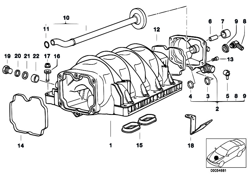 Original Parts for E39 540i M62 Touring / Engine/ Intake
