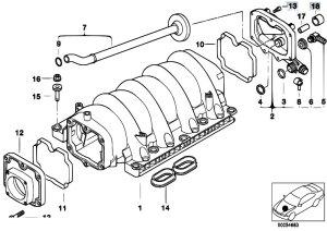 Original Parts for E53 X5 44i M62 SAV  Engine Intake