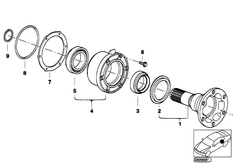 Original Parts for E30 M3 S14 Cabrio / Rear Axle/ Drive