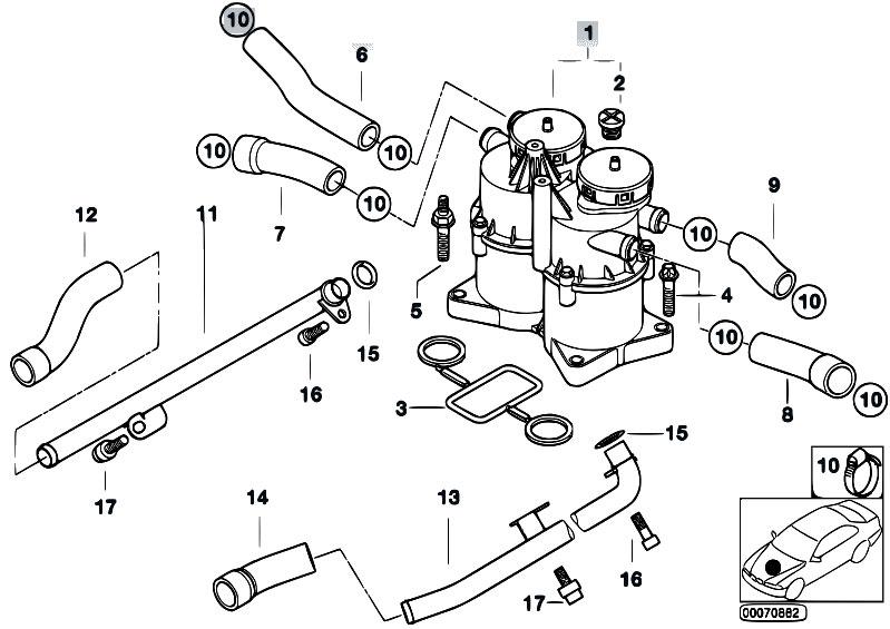 Original Parts for E65 740d M67 Sedan / Engine/ Crankcase