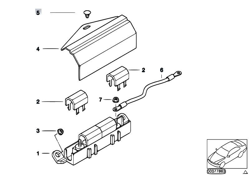 Original Parts for Z3 Z3 2.8 M52 Roadster / Vehicle