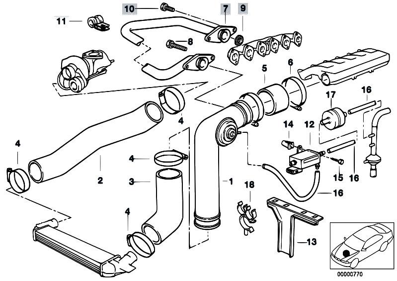 Original Parts for E34 525tds M51 Touring / Engine/ Intake