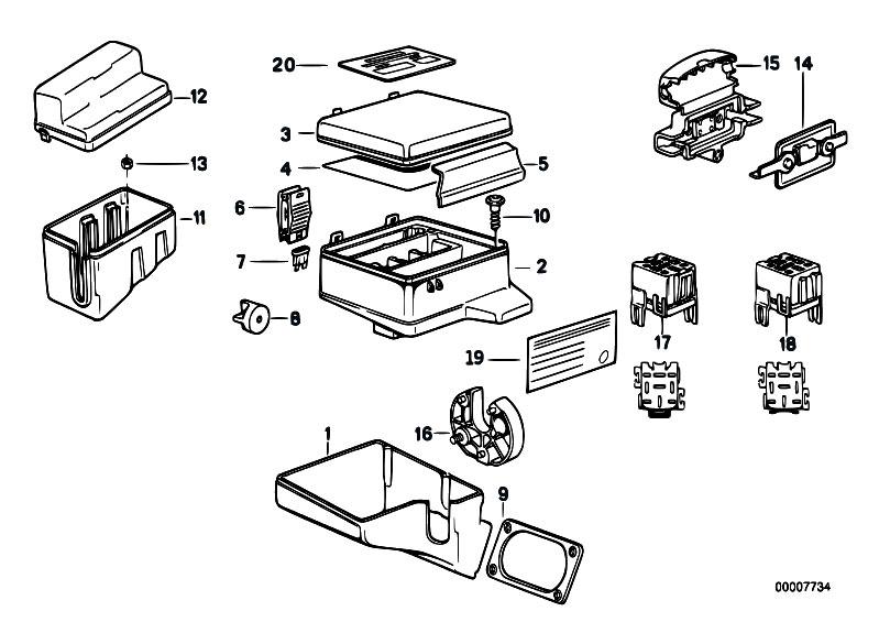 Original Parts for E32 730i M30 Sedan / Vehicle Electrical