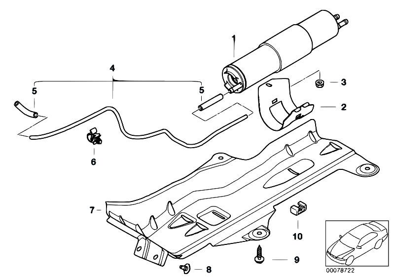 e46 fuel filter hose