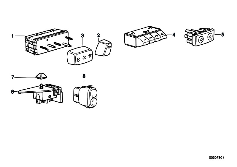 Original Parts for E31 850Ci M73 Coupe / Vehicle