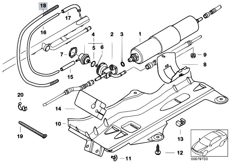 Original Parts for E46 M3 CSL S54 Coupe / Fuel Preparation