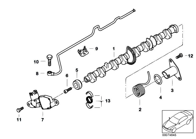 Original Parts for E46 318Ci N46 Cabrio / Engine/ Valve