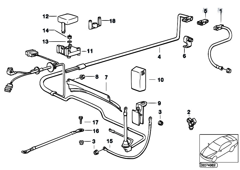 Original Parts for E34 520i M50 Touring / Engine