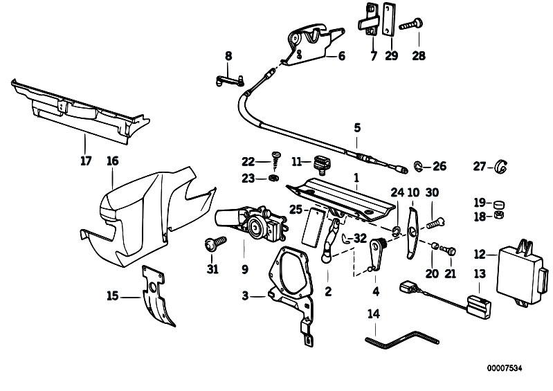 Original Parts for E30 320i M20 Cabrio / Sliding Roof