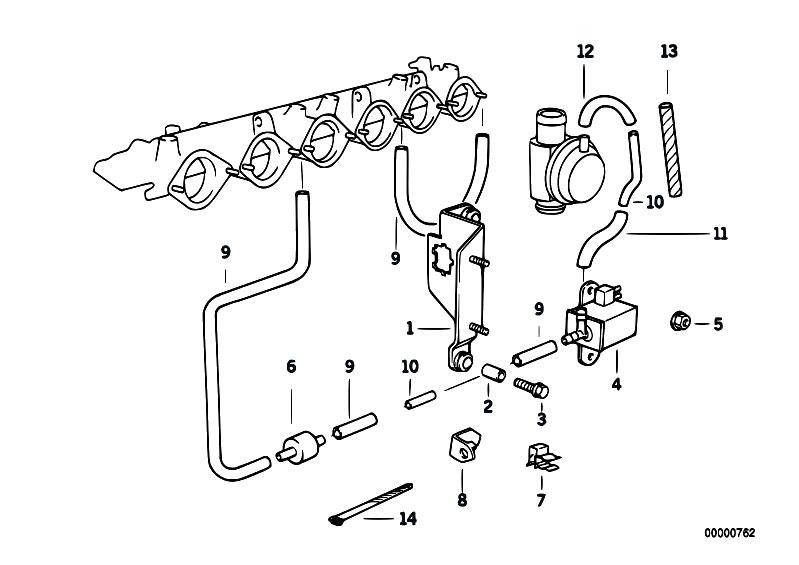 Original Parts for E36 M3 3.2 S50 Cabrio / Engine/ Vacuum
