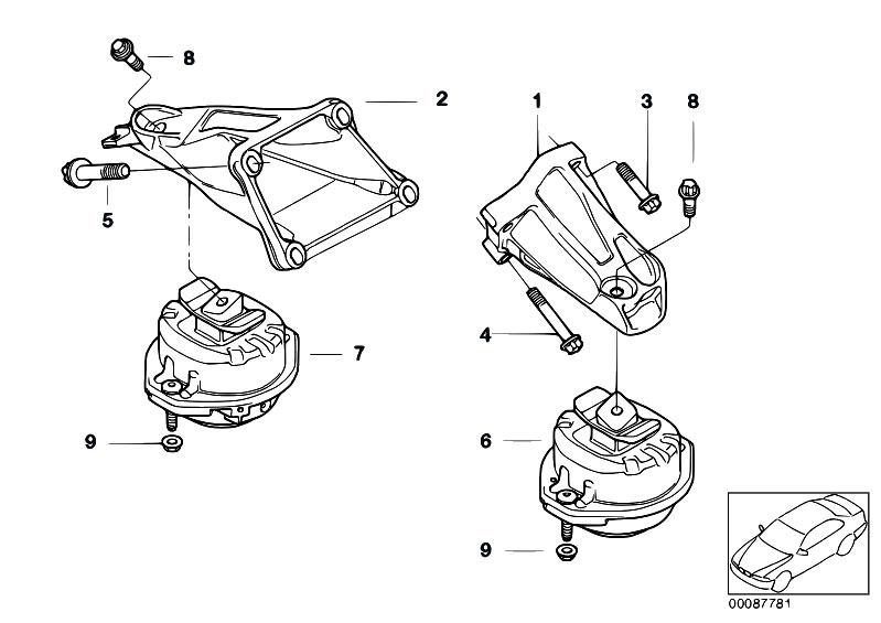 Original Parts for E65 750i N62N Sedan / Engine And