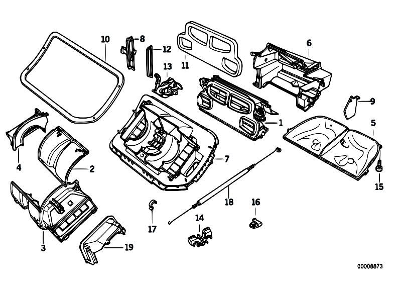 Original Parts for E36 320i M50 Sedan / Heater And Air