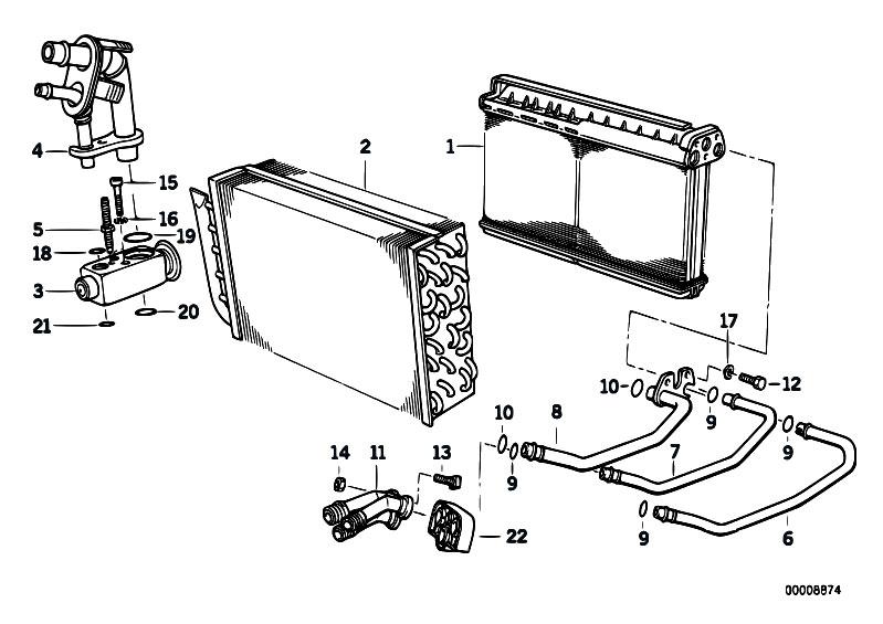 Original Parts for E36 318tds M41 Touring / Heater And Air