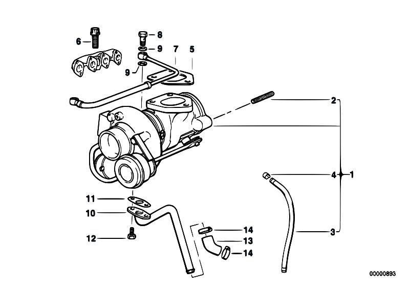 Original Parts for E36 318tds M41 Touring / Engine/ Turbo