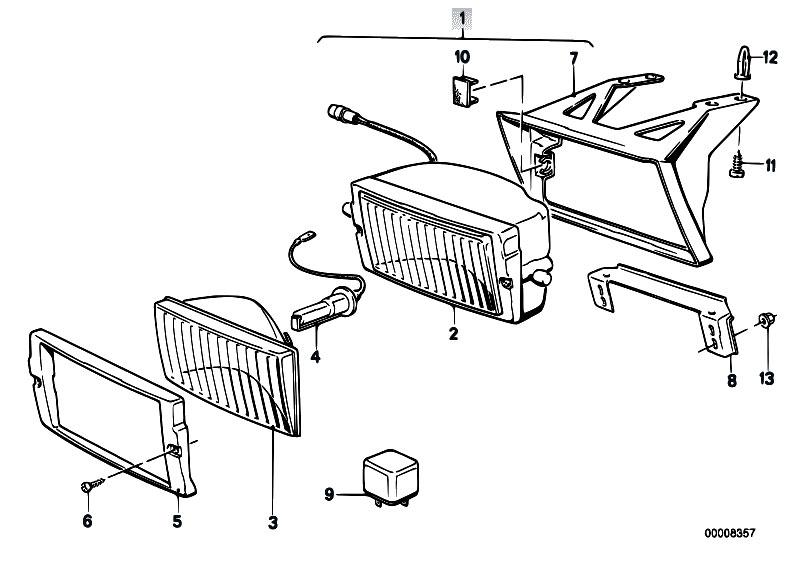 Original Parts for E30 320i M20 Cabrio / Lighting/ Fog