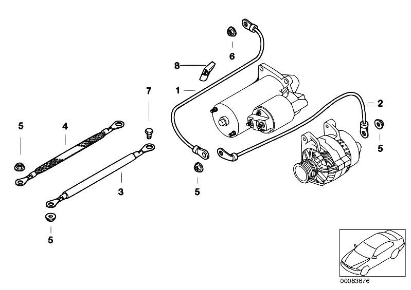 Original Parts for E93 M3 S65 Cabrio / Engine Electrical