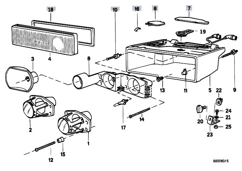 Original Parts for E31 850Ci M70 Coupe / Lighting/ Single